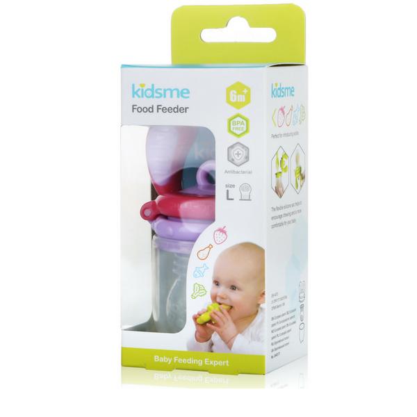 Túi nhai chống hóc L kidsme - màu hồng tím - Từ 06 tháng tuổi
