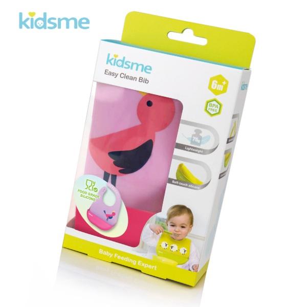 Yếm ăn silicone kidsme - Màu Hồng Tím